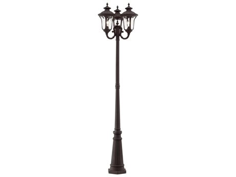 Livex Lighting Oxford Bronze Three-Light Outdoor Post Light