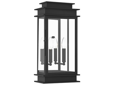 Livex Lighting Princeton Black Two-Light Outdoor Wall Light LV201804