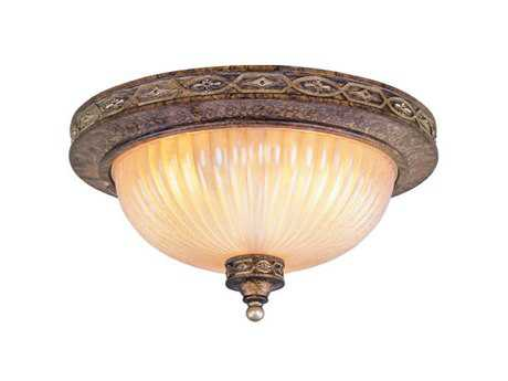Livex Lighting Seville Palacial Bronze Two-Light 13'' Wide Flush Mount Light LV854264