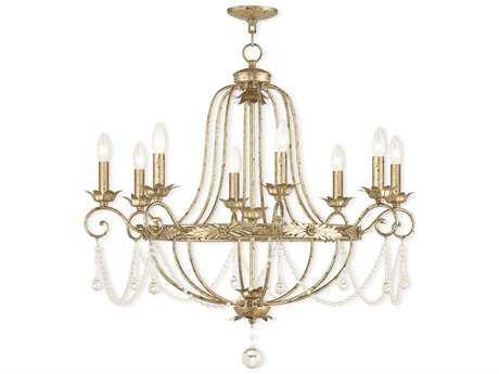 Livex Lighting Sophia Winter Gold Eight-Light 32'' Wide Chandelier