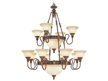 Livex Lighting Sovereign Greek Bronze Six-Light 39'' Wide Grand Chandelier LV860830