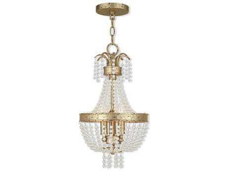 Livex Lighting Valentina Winter Gold Three-Light 10'' Wide Pendant Light LV5185328