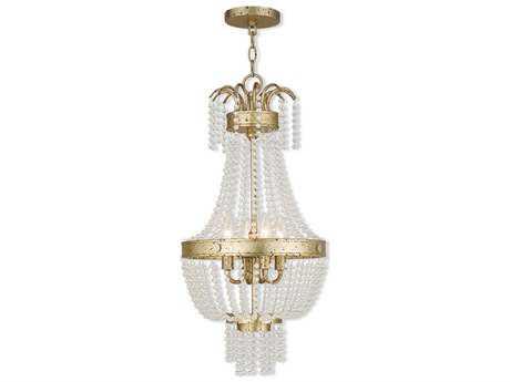Livex Lighting Valentina Hand Applied Winter Gold Four-Light 12.75'' Wide Pendant Light LV5185428