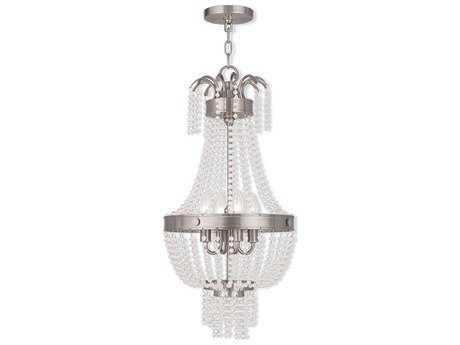 Livex Lighting Valentina Brushed Nickel Four-Light 12.75'' Wide Pendant Light LV5185491
