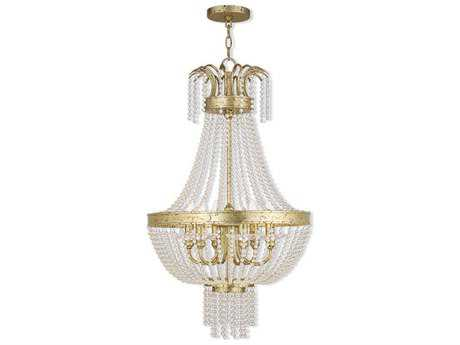 Livex Lighting Valentina Hand Applied Winter Gold Six-Light 18.25'' Wide Mini Chandelier LV5185628