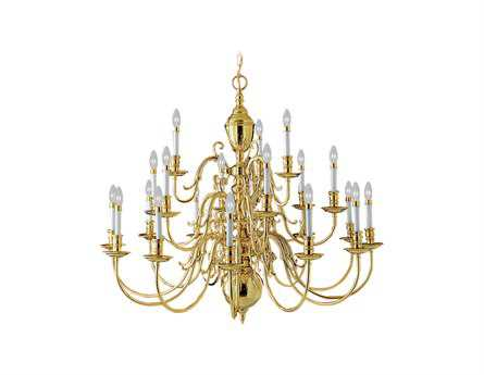 Livex Lighting Wakefield Polished Brass 21-Light 42'' Wide Chandelier LV534202