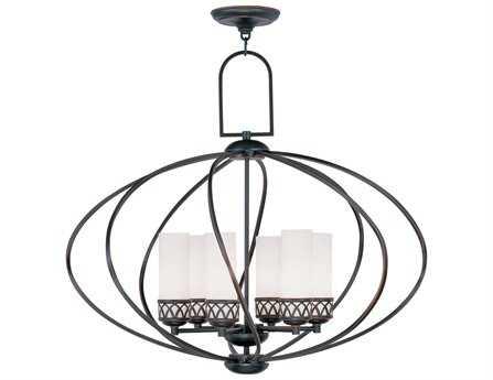 Livex Lighting Westfield Olde Bronze Six-Light 29'' Wide Chandelier
