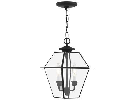 Livex Lighting Westover Black Two-Light Outdoor Hanging