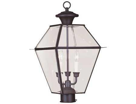 Livex Lighting Westover Bronze Three-Light Outdoor Post Light