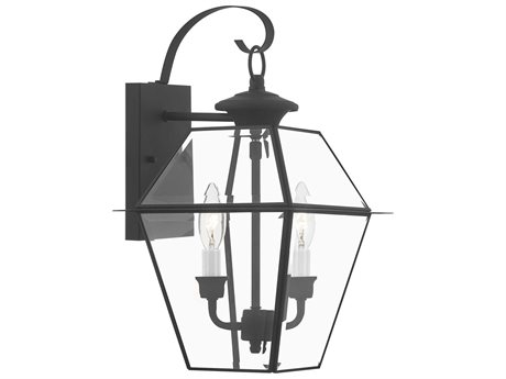 Livex Lighting Westover Black Two-Light Outdoor Wall Light LV228104