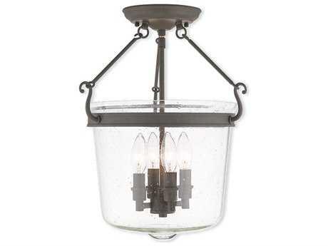 Livex Lighting Winchester Bronze Four-Light 14.25'' Wide Semi Flush Mount Light LV5049507