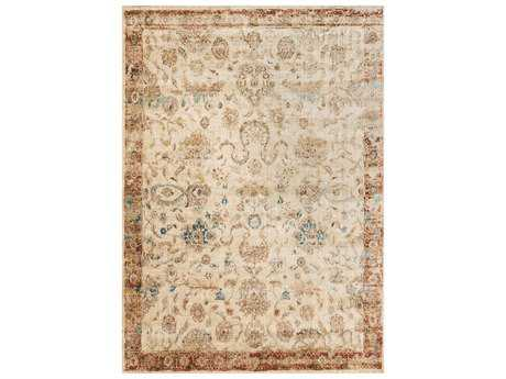 Loloi Rugs Anastasia AF-04 Rectangular Antique Ivory / Rust Area Rug