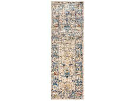 Loloi Rugs Anastasia AF-07 Sand / Light Blue Runner Rug