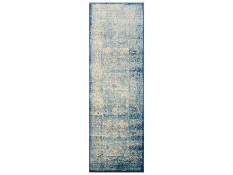 Loloi Rugs Anastasia AF-14 Light Blue / Ivory Runner Rug