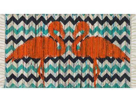 Loloi Rugs Aria HAR20 2'3'' x 3'9'' Rectangular Aqua / Orange Area Rug