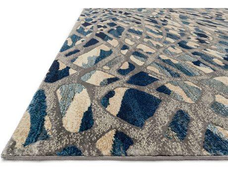 Loloi Rugs Dreamscape DM-06 Artic Blue / Silver Area Rug LLDREMDM06AHSIREC