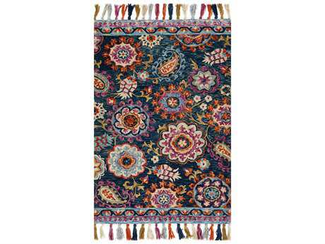 Loloi Rugs Farrah FH-01 Rectangular Navy / Plum Area Rug