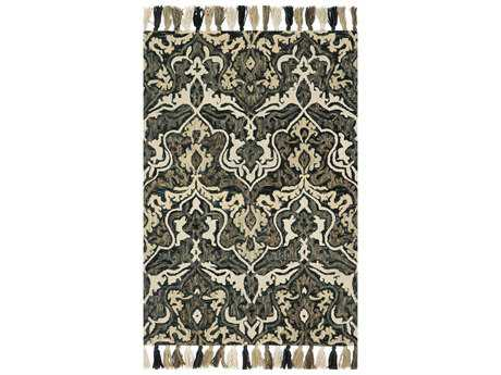 Loloi Rugs Farrah FH-04 Rectangular Charcoal / Grey Area Rug