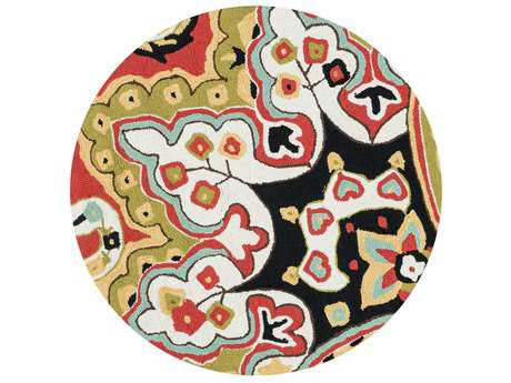 Loloi Rugs Francesca FC-09 3'0'' Round Red / Black Area Rug