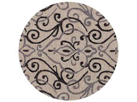 Loloi Rugs Francesca FC-18 3'0'' Round Ivory / Grey Area Rug