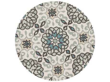 Loloi Rugs Francesca FC-31 3'0'' Round Ivory / Metal Area Rug