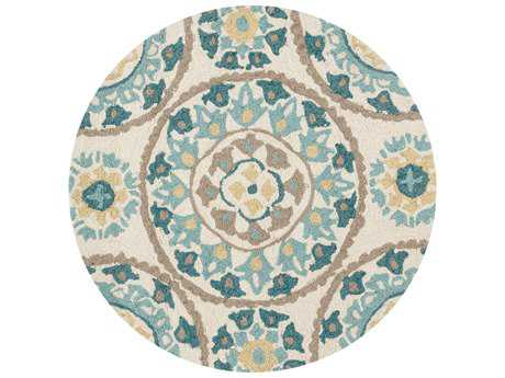 Loloi Rugs Francesca FC-38 3'0'' Round Ivory / Beige Area Rug