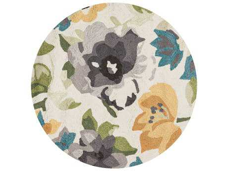 Loloi Rugs Francesca FC-39 3'0'' Round Grey / Yellow Area Rug