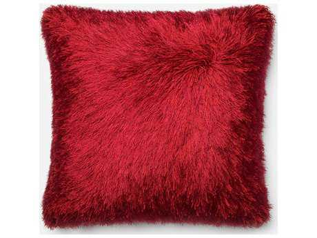 Loloi Rugs 22'' Square Red Pillow (Sold in 4) LLP0245RE00PIL3