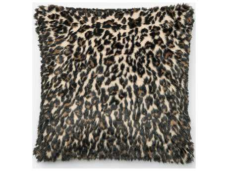 Loloi Rugs 22'' Square Black & Tan Pillow (Sold in 4)