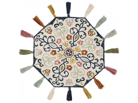 Loloi Rugs Remy Ivory / Multi Round Area Rug