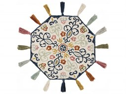 Remy Ivory / Multi Round Area Rug