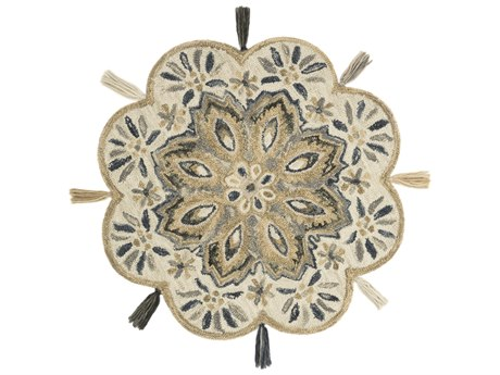 Loloi Rugs Remy Ivory / Sand Round Area Rug