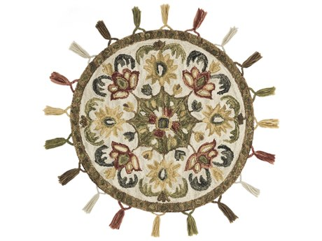 Loloi Rugs Remy Olive / Multi Round Area Rug