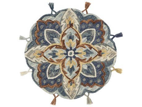 Loloi Rugs Remy Blue / Multi Round Area Rug