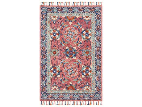 Loloi Rugs Zharah Zr-03 Rectangular Rose / Denim Area Rug LLZHARZR03RODEREC