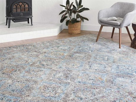 Loloi II Rugs Dante Granite / Light Blue Rectangular Runner Area Rug LLLDANTDN03GNLBREC