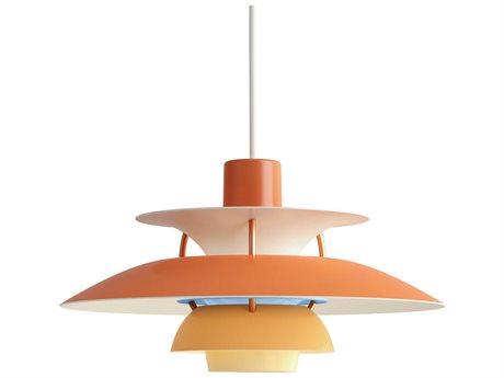 Louis Poulsen Ph Orange 6'' Wide LED Mini Pendants LOU10000142117