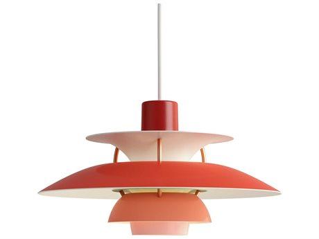 Louis Poulsen Ph Red 6'' Wide LED Mini Pendants LOU10000142118