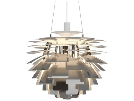 Louis Poulsen Ph Stainless Steel Polished 18'' Wide Pendant LOU10000134673