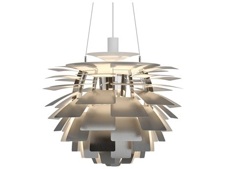 Louis Poulsen Ph Brushed Stainless Steel 18'' Wide Pendant