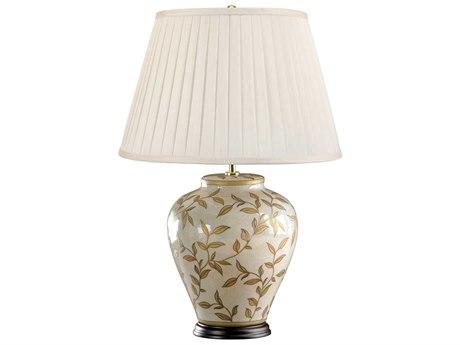 Lucas McKearn Leaves Gold Leaves Pattern 16'' Wide Table Lamp