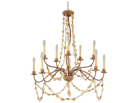 Lucas McKearn Mosaic Ten-Light 37 Wide Chandelier LCKCH115810