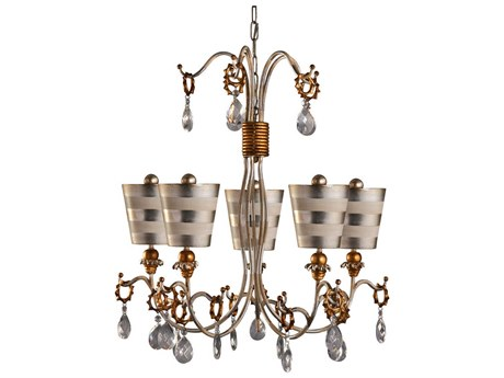 Lucas McKearn Tivoli Silver Five-Light 30 Wide Chandelier LCKCH1038S