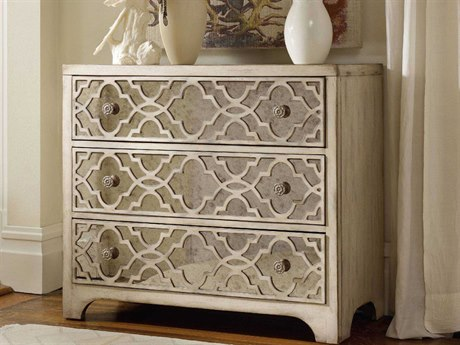 Luxe Designs Pearl Essence 36''W x 18''D Fretwork Accent Chest LXD31248415099