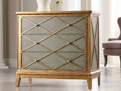 Luxe Designs Soft Muted Green with Gold Trim 42''W x 20''D Paxton Accent Chest LXD7398421534