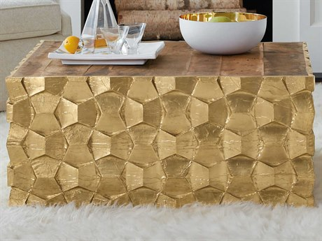 Luxe Designs 38'' Wide Square Coffee Table LXD58157930890GLD
