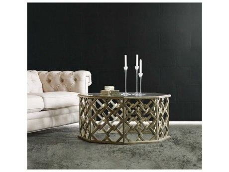 Luxe Designs Silver 40''L x 40''W Octagon Nico Cocktail Table LXD7394976928