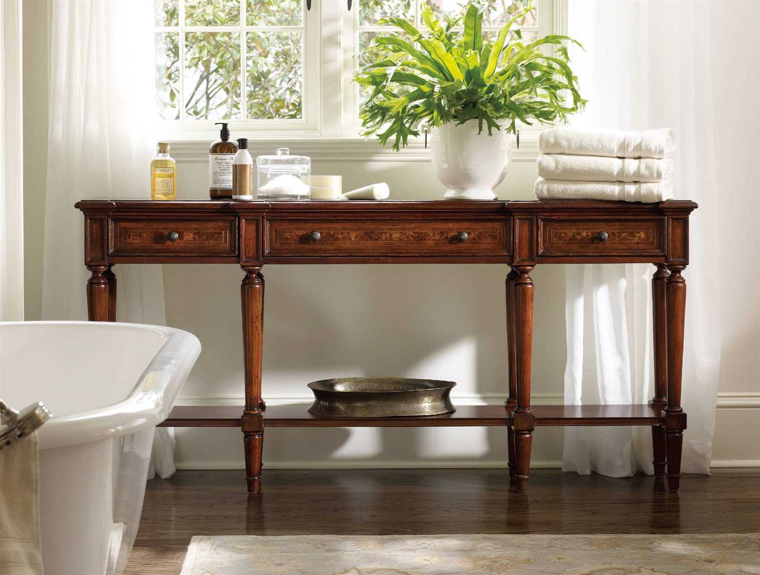 Wide Rectangular Console Table