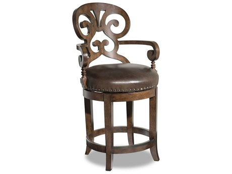 Luxe Designs Arm Swivel Counter Height Stool LXD4012476584