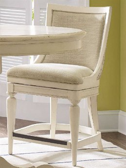 Luxe Designs Creamy Couture White Side Swivel Counter Height Stool LXD60012509650WH